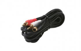 12' S-Video With 2RCA (R+W) Audio Cable (Gold)