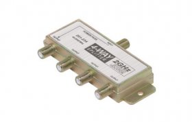 4-Way 2.4GHz 90dB Power Pass F Splitter