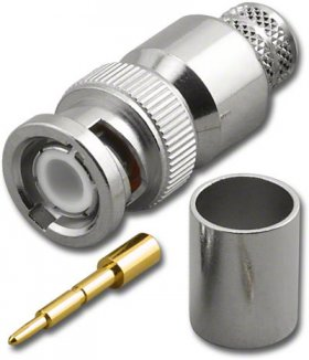 BNC Plug 3-Piece Crimp-On LMR-400