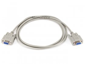 6' Null Modem DB 9 F/F Molded Cable