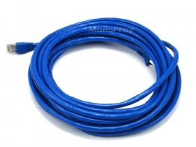 25Ft Cat6A 500MHz 24Awg Shielded Ethernet Network Cable (Blue)