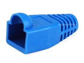 RJ45 Color Coded Strain Relief Boots - Blue (10Pk)
