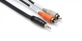6Ft Stereo Breakout Cable 3.5mm TRS to Dual RCA