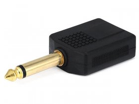 "2(6.3mm) 1/4"" Stereo Jacks to (6.3mm) 1/4"" Mono Plug (Gold)"