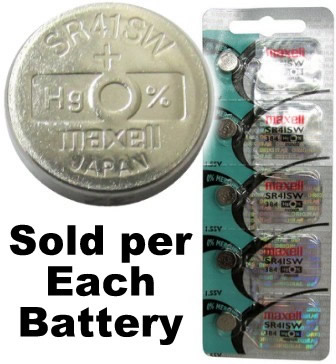 384 (392/SR41SW) 1.55V Silver Oxide Button Cell Battery