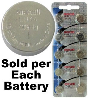 357 (LR44,A76,AG13) 1.5V Alkaline Button Cell Battery
