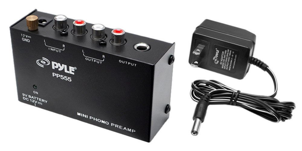 Ultra Compact Phono Turntable Pre-Amplifier w/ 9 V Battery Comp