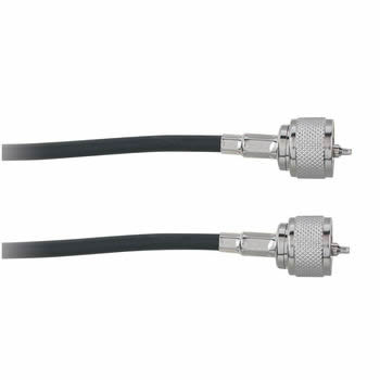 50' UHF Plug to UHF Plug RG-58/U 50-Ohm Coax Cable (Black)