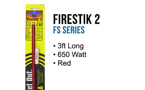 FirestikII 3Ft Tunable Tip CB Antenna (Red)