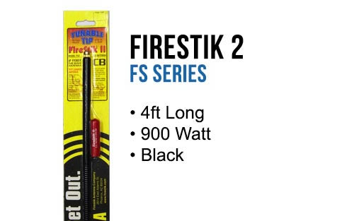 FirestikII 4' Tunable Tip CB Antenna (Black)