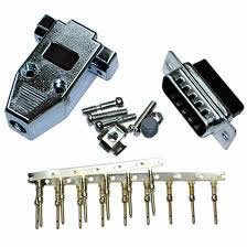 DB15 Male Connector Kit (Crimp Type) Metalized Plastic Hood