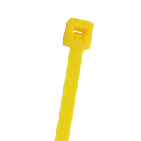 "4"" Nylon Cable Ties (100Pk) Yellow Holds Up To 18 Lbs"