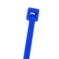 "4"" Nylon Cable Ties (100Pk) Blue Holds Up To 18 Lbs"