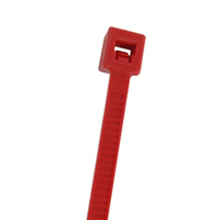 "7.5"" Nylon Cable Ties (100Pk) Red Holds Up To 50 Lbs"