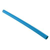 "1"" Blue 48"" Thin Wall 2:1 Polyolefin Heat Shrink Tubing"