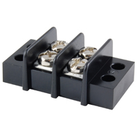 2-Pole Terminal Block Barrier Dual Row 9.5mm Pitch 300V 20A