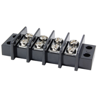 4-Pole 25Amp 300V Dual Row Terminal Block 11mm Pitch