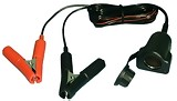 12V Lighter Socket 6Ft Cord With Battery Terminal Clips