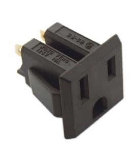 Chassis Mount 3-Prong Snap-In AC Receptacle 15A