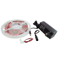Flexible LED Strip Kit Red 16.4Ft IP65 300 w/Power Supply