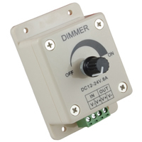 LED Dimmer Knob Operated Control 12VDC 8A