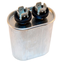 "4uF 370VAC Motor Run Capacitor AC Metallized .25"" 4-Way Q.C."