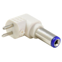2.5/5.5mm Right Angle Tip Adapter For Universal Power Supply