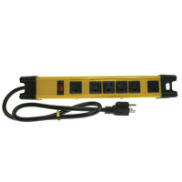 Heavy Duty 6 Outlet Surge Protector, 6', 200-Joule
