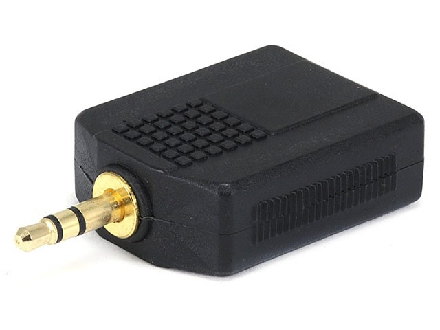 "2(6.3mm) 1/4"" Stereo Jacks to (3.5mm) 1/8"" Stereo Plug (Gold)"