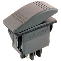 DPDT 12VDC Sealed Auto/Marine Rocker Switch On-Off-On 20A NTE