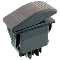 DPDT 12VDC Amber Inc Lighted Rocker Switch On-Off-On 20A NTE