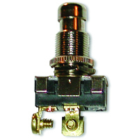 SPST Round Pushbutton Switch On-Off 125V 15A NTE