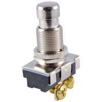 SPST Round Pushbutton Switch Off-(On) 125V 15A NTE