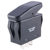 SPST Waterproof Rocker Switch On-None-Off 125VAC 20A NTE