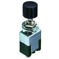 SPDT Black Round Pushbutton Switch On-On 125V 3A NTE