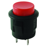 Red Round Pushbutton SPST Off-On 125V 3A