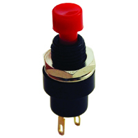 Red Mini Pushbutton Switch SPST Off-(On) 125V 1.5A