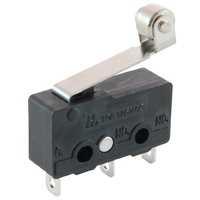 SPDT Sub-Mini Snap Action Switch Hinge Roller Lever 5A 125V NTE