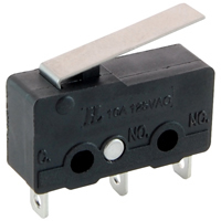 Sub-Mini Snap Action Switch Hinge Lever SPDT 125V 10A