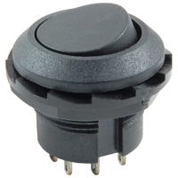 SPDT Round Rocker Switch w/Mounting Nut On-None-On 125V 10A NTE