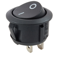 Snap-In Round Rocker Switch SPST (On)-None-Off 125V 16A
