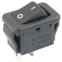 Micro Snap-In Rocker SPST On-None-Off 125V 6A