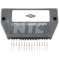 NTE1343 IC, Dual, Audio Power Amp, 10W/Ch, Hybrid, 15-Lead SIP