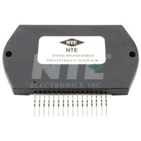 NTE1345 IC, Dual, Audio Power Amp, 30W/Ch, Hybrid, 16-Lead SIP