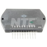 NTE1352 IC, Audio Power Amplifier, 30W, Hybrid, 12-Lead SIP