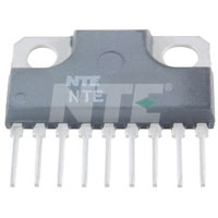 NTE1362 IC, Audio Power Amplifier, 5.5W, 9-Lead SIP