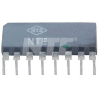 NTE1458 IC, Dual Audio Preamp, 8-Lead SIP
