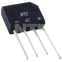 NTE168 Silicon Bridge Rectifier 400V 2A