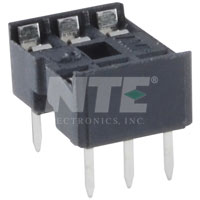 NTE435P6 Socket for 6-Pin DIP Package (2Pk)