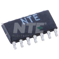 NTE859SM IC, Quad, Low Noise, JFET Input Op-Amp, SOIC-14